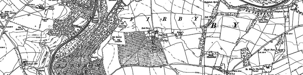 Old map of Badger Bank in 1891