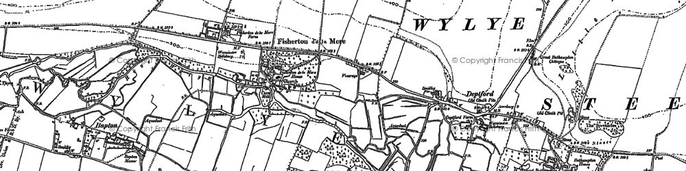 Old map of Wylye Valley in 1899