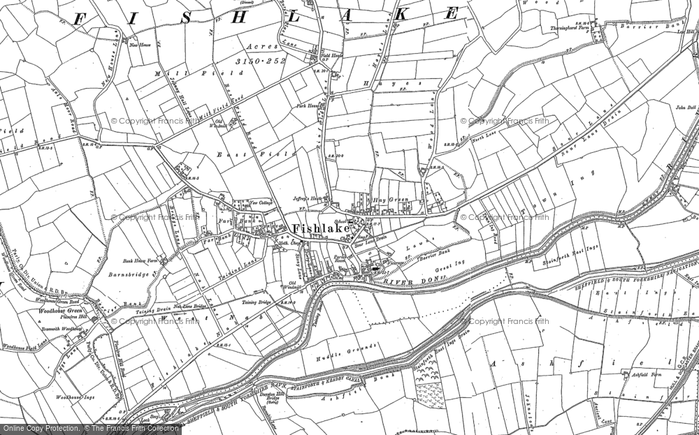 Old Map of Historic Map covering Ashfields in 1891