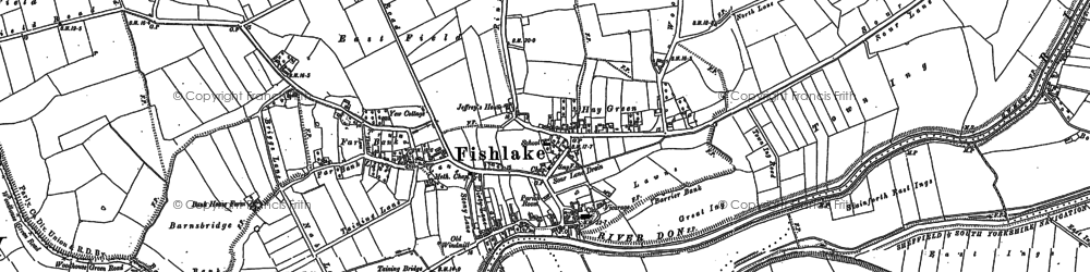 Old map of Ashfields in 1891