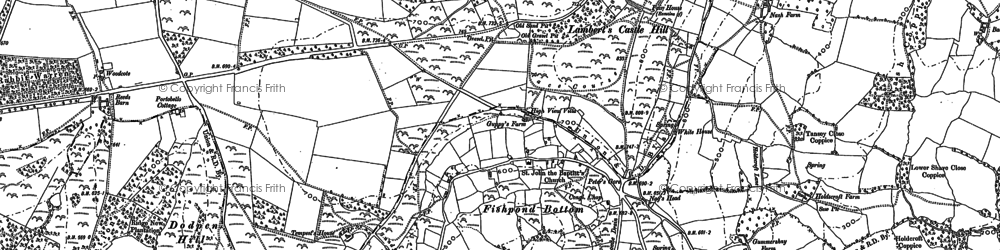 Old map of Wootton Hill in 1903