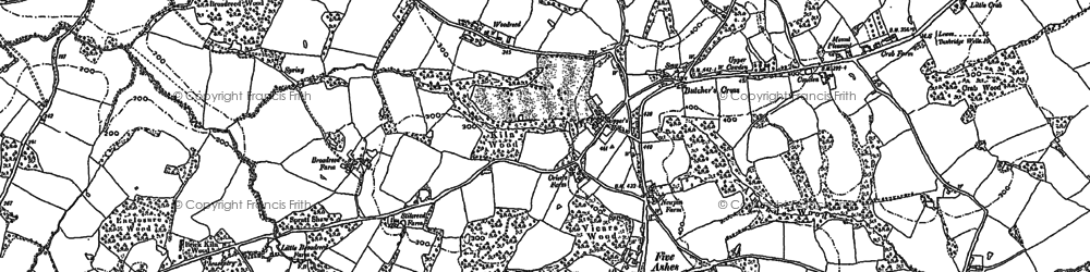 Old map of Five Ashes in 1897