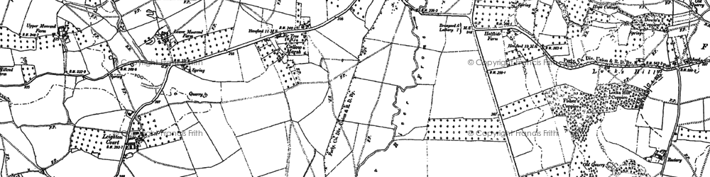Old map of Leighton Court in 1886