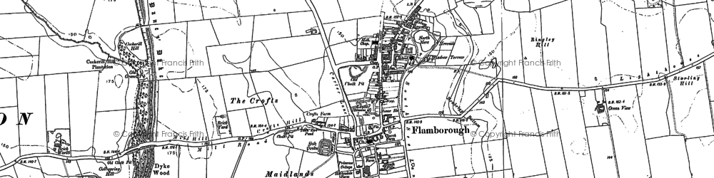 Old map of Flamborough in 1889