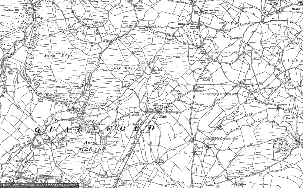 Old Map of Historic Map covering Adder's Green in 1897