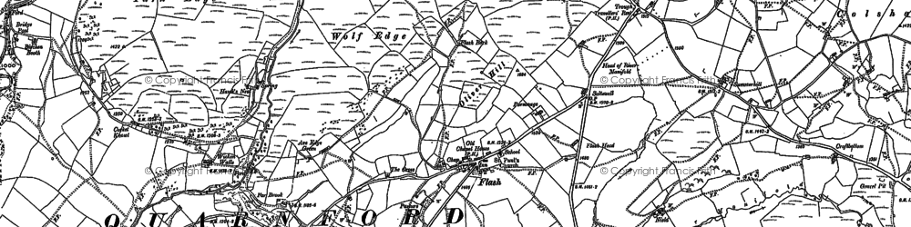 Old map of Wildstone Rock in 1897