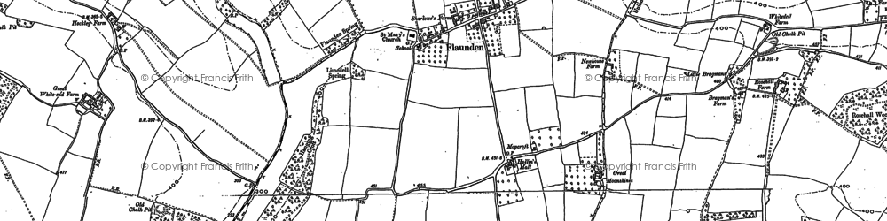 Old map of Flaunden in 1897