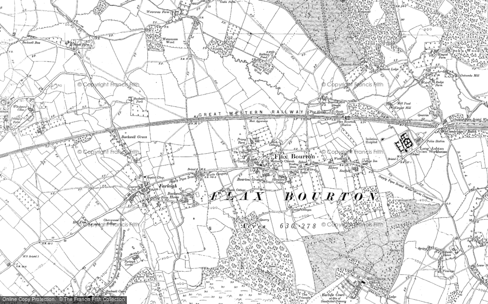 Old Map of Historic Map covering Backwell Ho in 1883