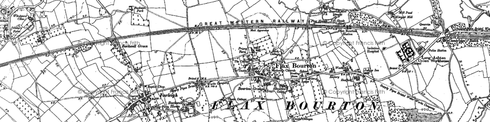 Old map of Backwell Ho in 1883