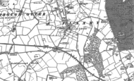 Old Map of Flaxby, 1892