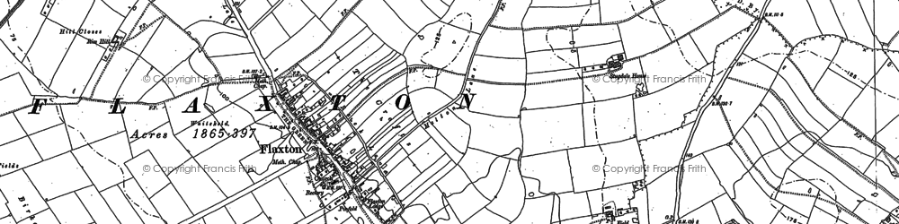 Old map of Wilks Plantn in 1891