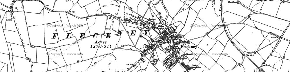 Old map of Wistow Grange in 1885