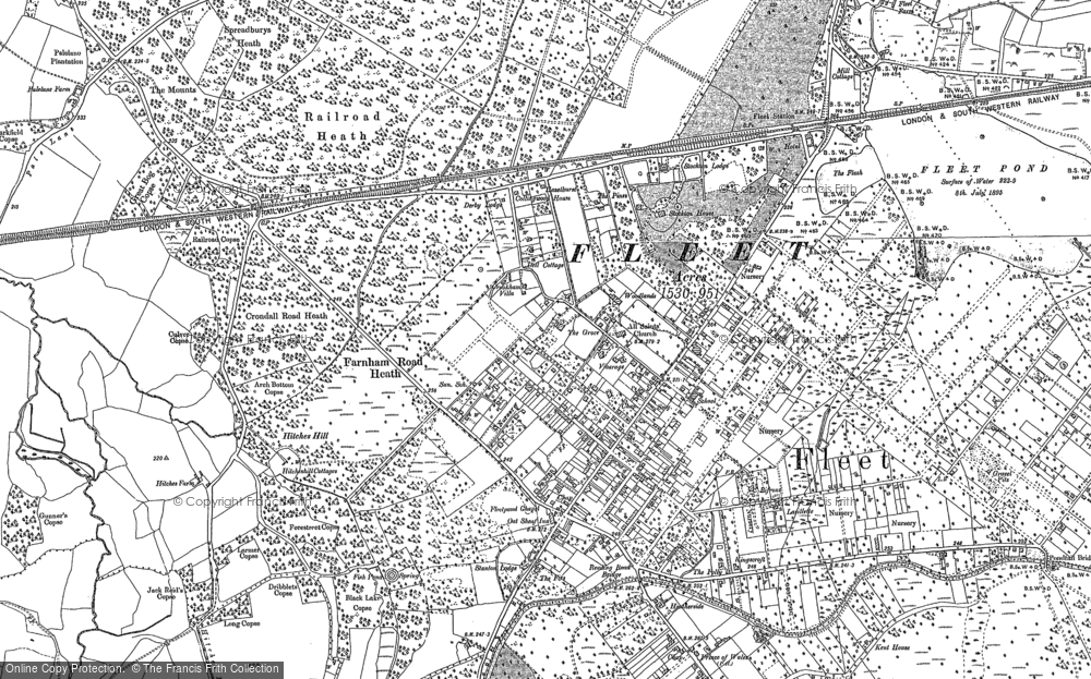 Old Map of Historic Map covering Lichett Plain in 1909