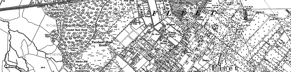 Old map of Fleet in 1909