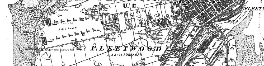 Old map of Fleetwood in 1910