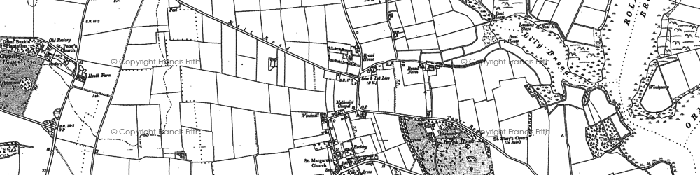 Old map of Lily Broad in 1883