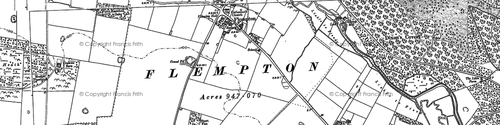 Old map of Ash Carr in 1882