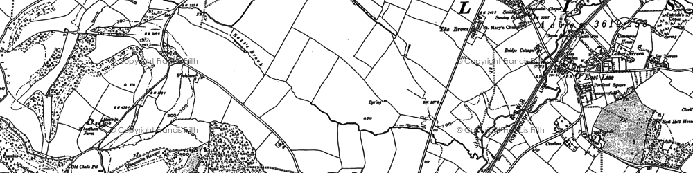 Old map of Wheatham Hill in 1895