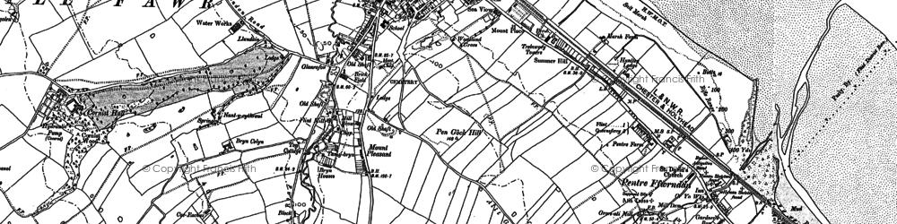Old map of Flint in 1898