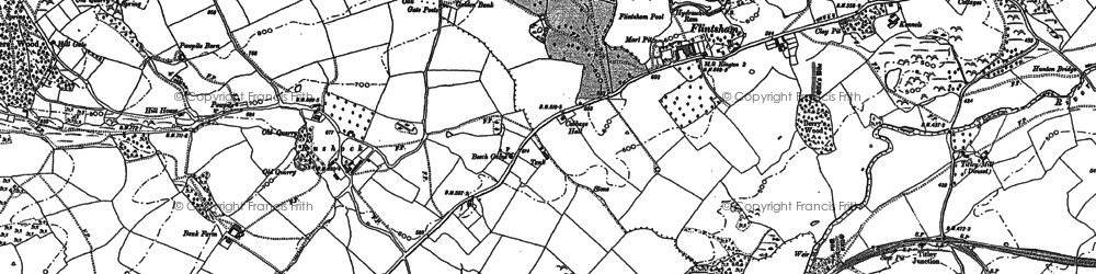 Old map of Titley Mill in 1902
