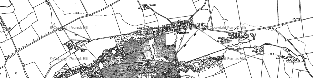 Old map of Westwood Belt in 1884