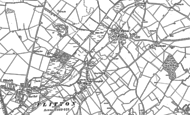 Map of Flitton, 1881 - 1899