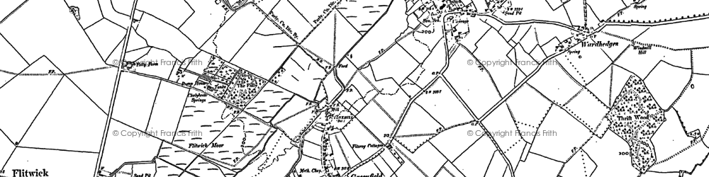Old map of Flitton in 1881