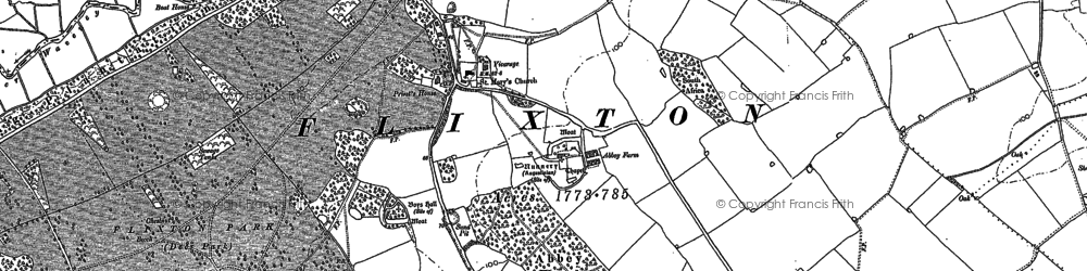 Old map of Abbey Wood in 1903