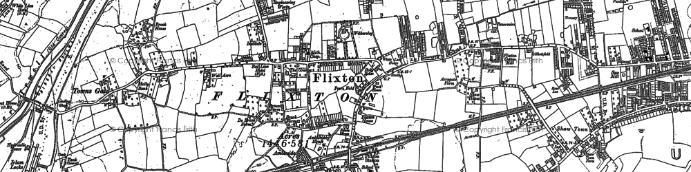 Old map of Flixton in 1904