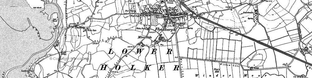 Old map of Flookburgh in 1847