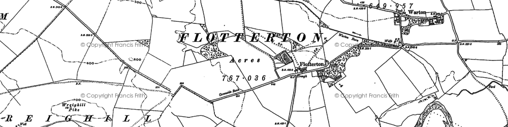 Old map of Wreighill Pike in 1896