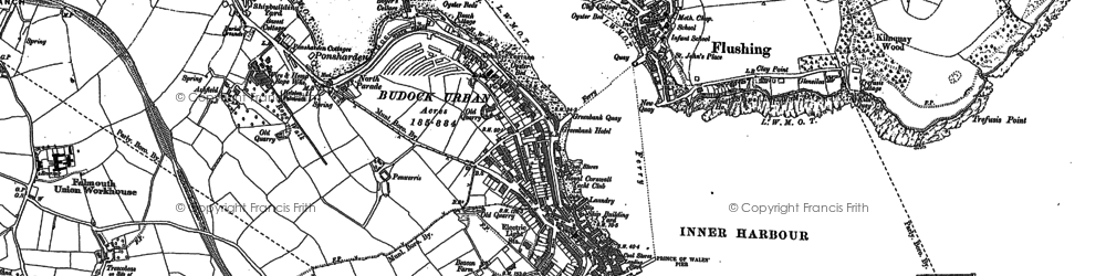 Old map of Flushing in 1906