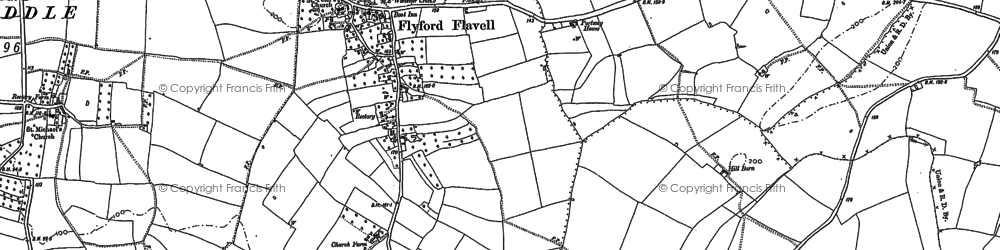 Old map of Wychavon Way in 1884