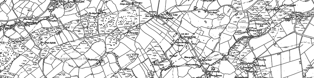 Old map of Wîg in 1886
