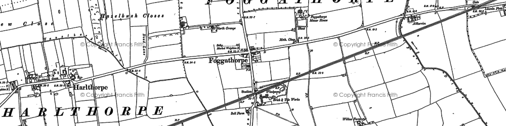 Old map of Allberries in 1887