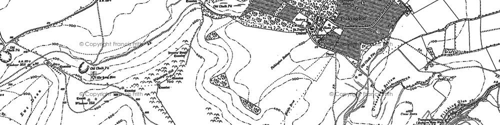 Old map of Wootton Manor in 1898