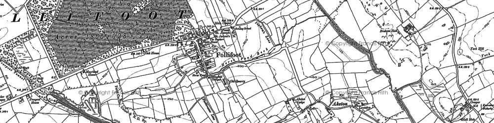 Old map of Aketon Lodge in 1889