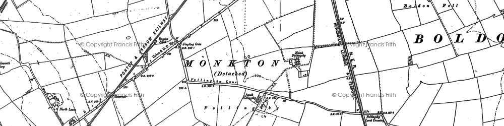 Old map of Leam Lane in 1895