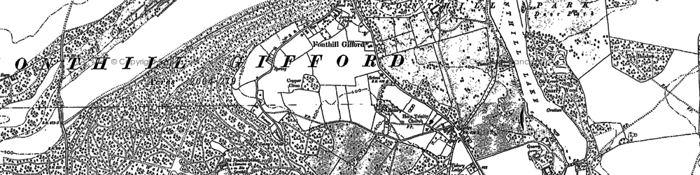 Old map of Fonthill Gifford in 1900