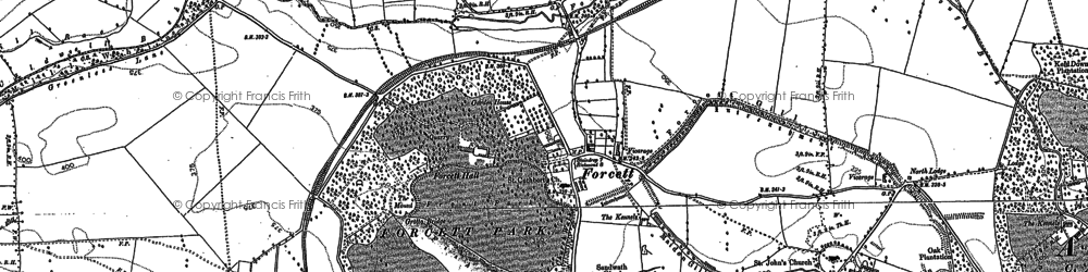 Old map of Forcett in 1892