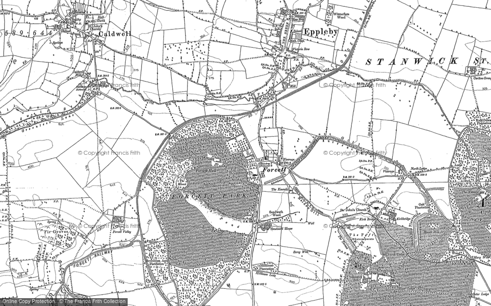 Old Map of Historic Map covering Aldbrough Beck in 1892