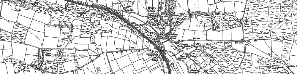Old map of Wolf's Castle in 1887