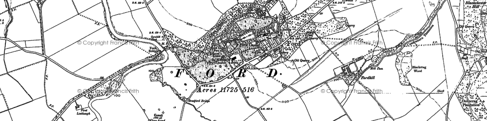 Old map of Ford in 1897