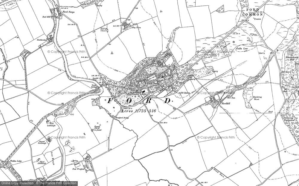 Old Map of Historic Map covering White Hill in 1897