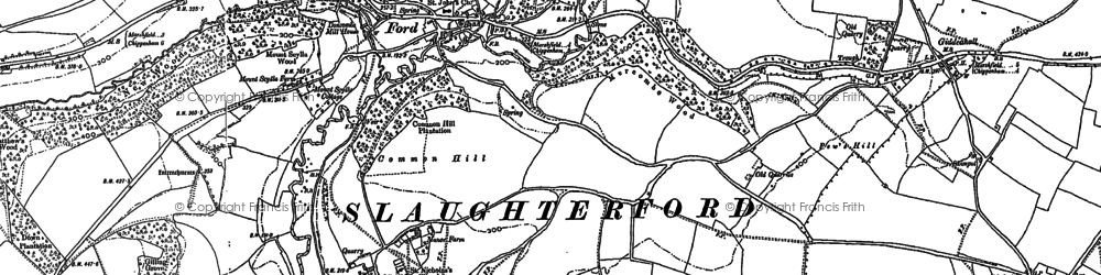 Old map of Ford in 1920
