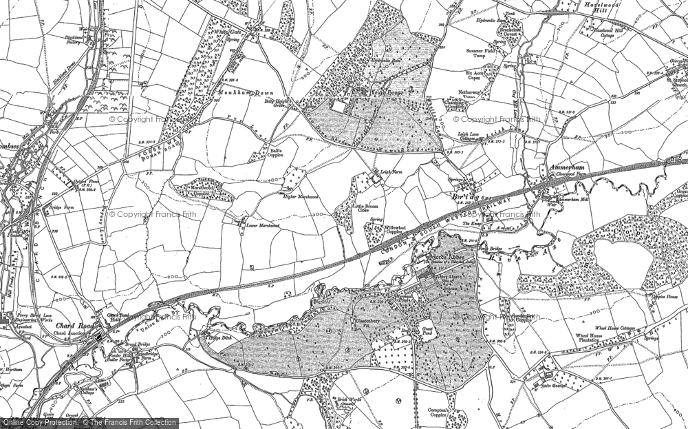 Old Map of Forde Abbey, 1901 in 1901