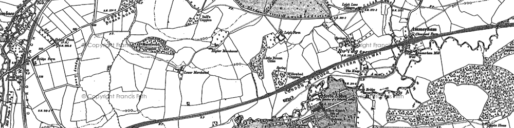 Old map of Forde Abbey in 1901
