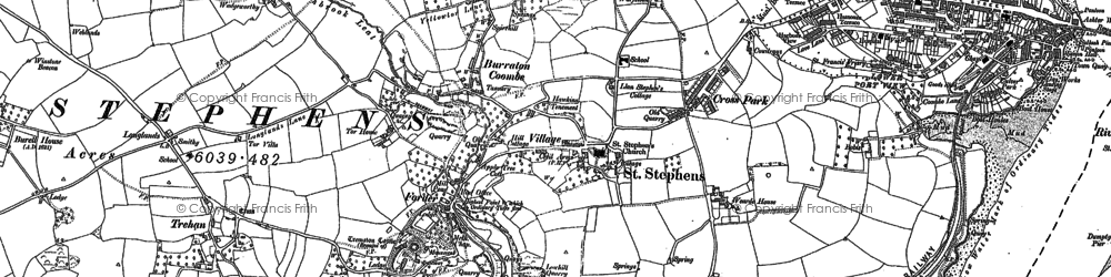 Old map of Forder in 1883