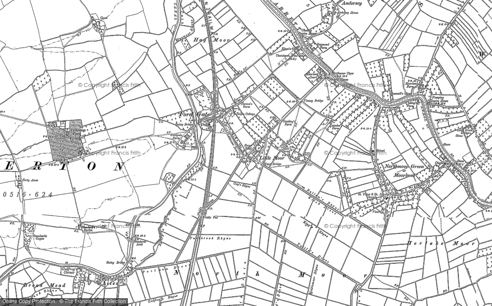 Old Map of Fordgate, 1887 in 1887