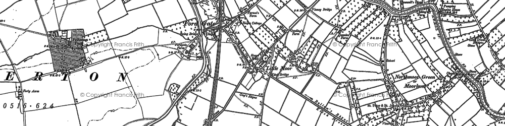 Old map of White's in 1887